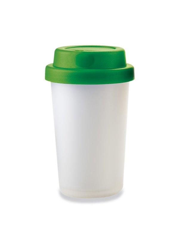Vaso Mug Mocca 250 Ml Con Tapa Rosca - Verde