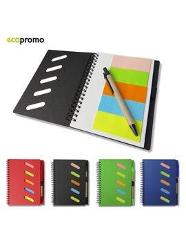 Libreta Cuaderno Gulliver Eco Doble Argolla y Boligrafo - Natural