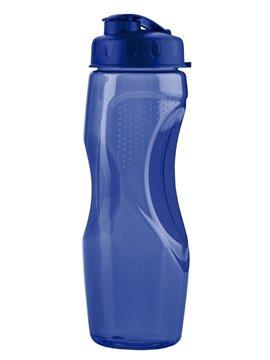 Botella Botilito Pvc Helice 650Ml Tapa Rosca Pestaña - Azul