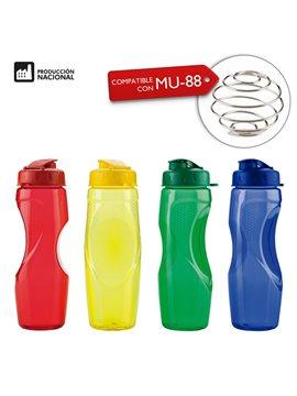 Botella Botilito Pvc Helice 650Ml Tapa Rosca Pestaña - Transparente