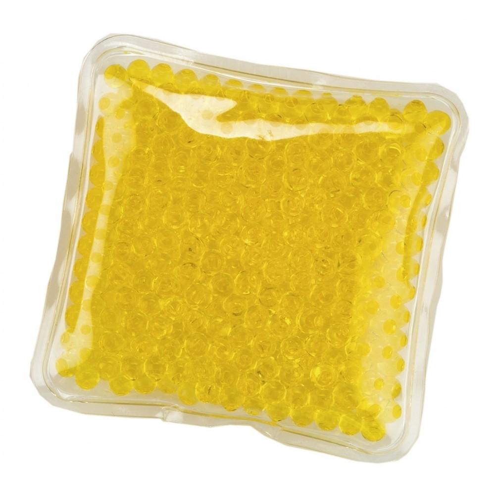 Pad Cojin Cool And Hot Pad Forma Cuadrada Con Gel - Amarillo