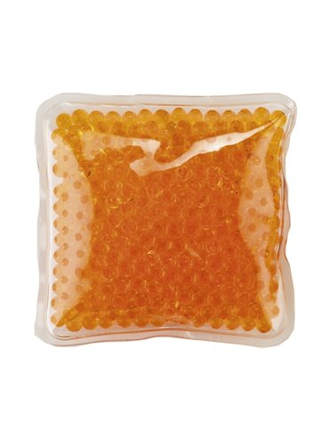 Pad Cojin Cool And Hot Pad Forma Cuadrada Con Gel - Naranja