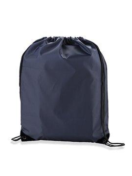 Tula Morral Lona Poliester Sporty Bag Sencilla - Azul Oscuro Esquina Negra