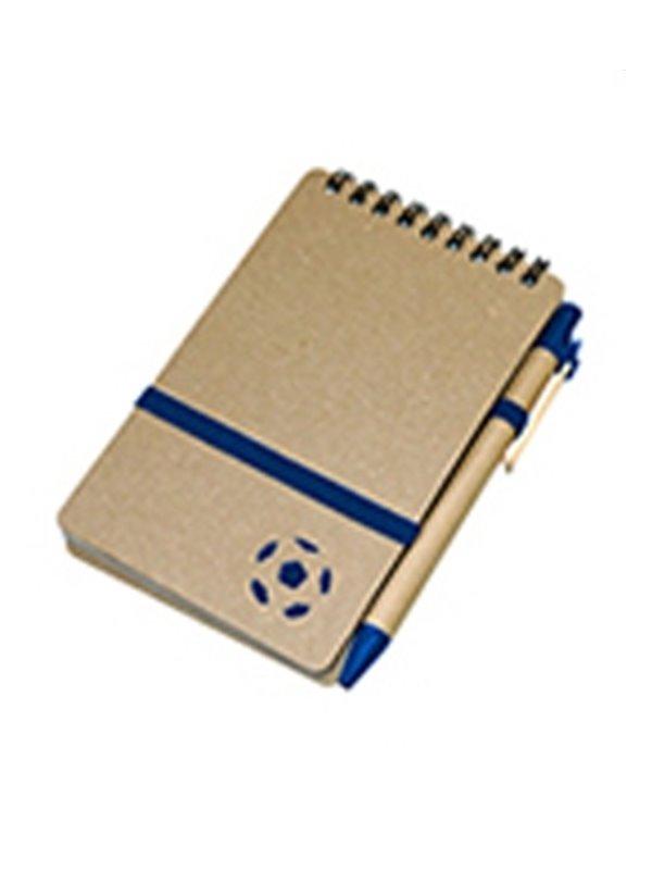 Cuaderno Libreta Futbol De 80 Hojas Banda Elastica - Azul