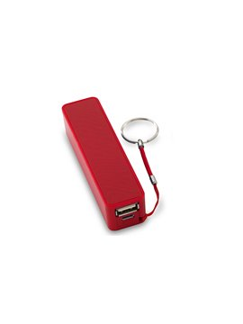 Pila Bateria Externa HIT II Capacidad de 2200 mAh USB - Rojo