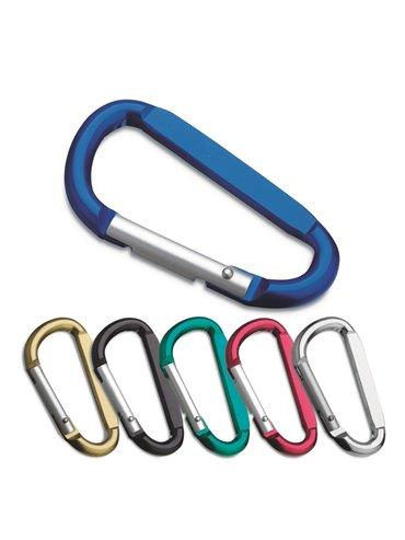 Clip Carabinero Metal Colores Metalizados - Negro
