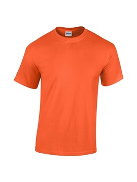 Gildan Camiseta Talla S T Shirt Adulto Cuello Redondo - Naranja