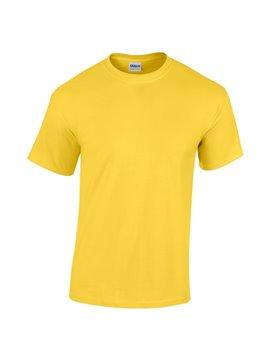 Gildan Camiseta Talla S T Shirt Adulto Cuello Redondo - Amarillo