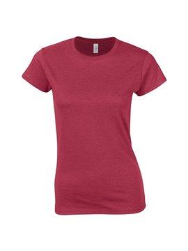Gildan Camiseta Talla L T Shirt Adulto Cuello Redondo - Rojo Cereza