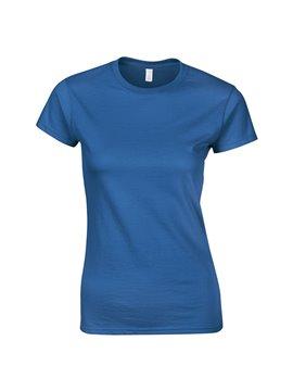 Gildan Camiseta Talla S T Shirt Dama Cuello Redondo - Royal