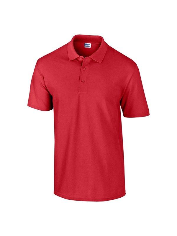 Gildan Camiseta Polo Adulto Talla L Poliester 220 grs - Rojo