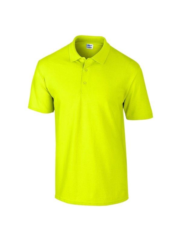 Gildan Camiseta Polo Adulto Talla L Poliester 220 grs - Verde Fluorecente