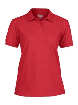 Gildan Camiseta Talla L Polo Adulto Dama Poliester 220 gr - Rojo