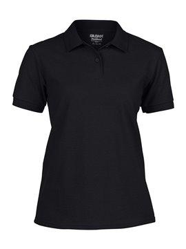 Gildan Camiseta Polo Adulto Dama Talla XL Poliester 220 gr - Negro