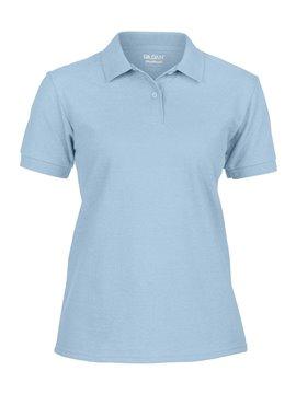 Gildan Camiseta Polo Adulto Dama Talla XL Poliester 220 gr - Azul Claro