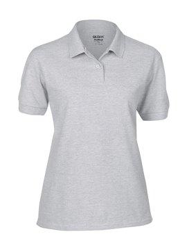 Gildan Camiseta Polo Adulto Dama Talla XL Poliester 220 gr - Gris Jaspel