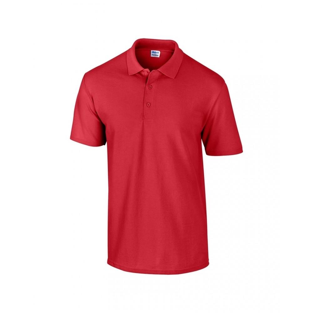 Gildan Camiseta Polo Adulto Talla Xl Poliester 220 gr - Rojo