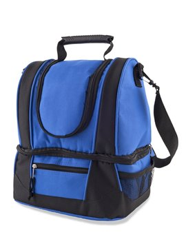 Bolso Nevera Lonchera Cooler Max Poliester Bolsillo Frontal - Azul