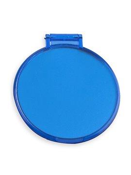 Espejo Redondo De Bolsillo Tapa Plegable Starlett - Azul