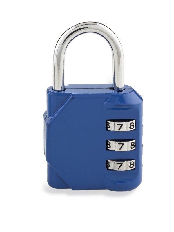 Candado de Clave Metalico 3 Digitos Practico Diseño - Azul