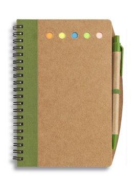 Cuaderno Libreta Argollado Punch Taco de Memos Stickies - Verde