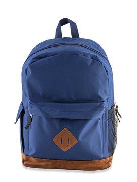 Bolso Morral Backpack Rush Con Accesorios En Gamuza - Azul Oscuro