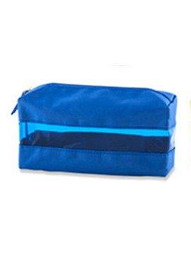 Cartuchera Cosmetiquera Duff En Poliester Con Cremallera - Azul