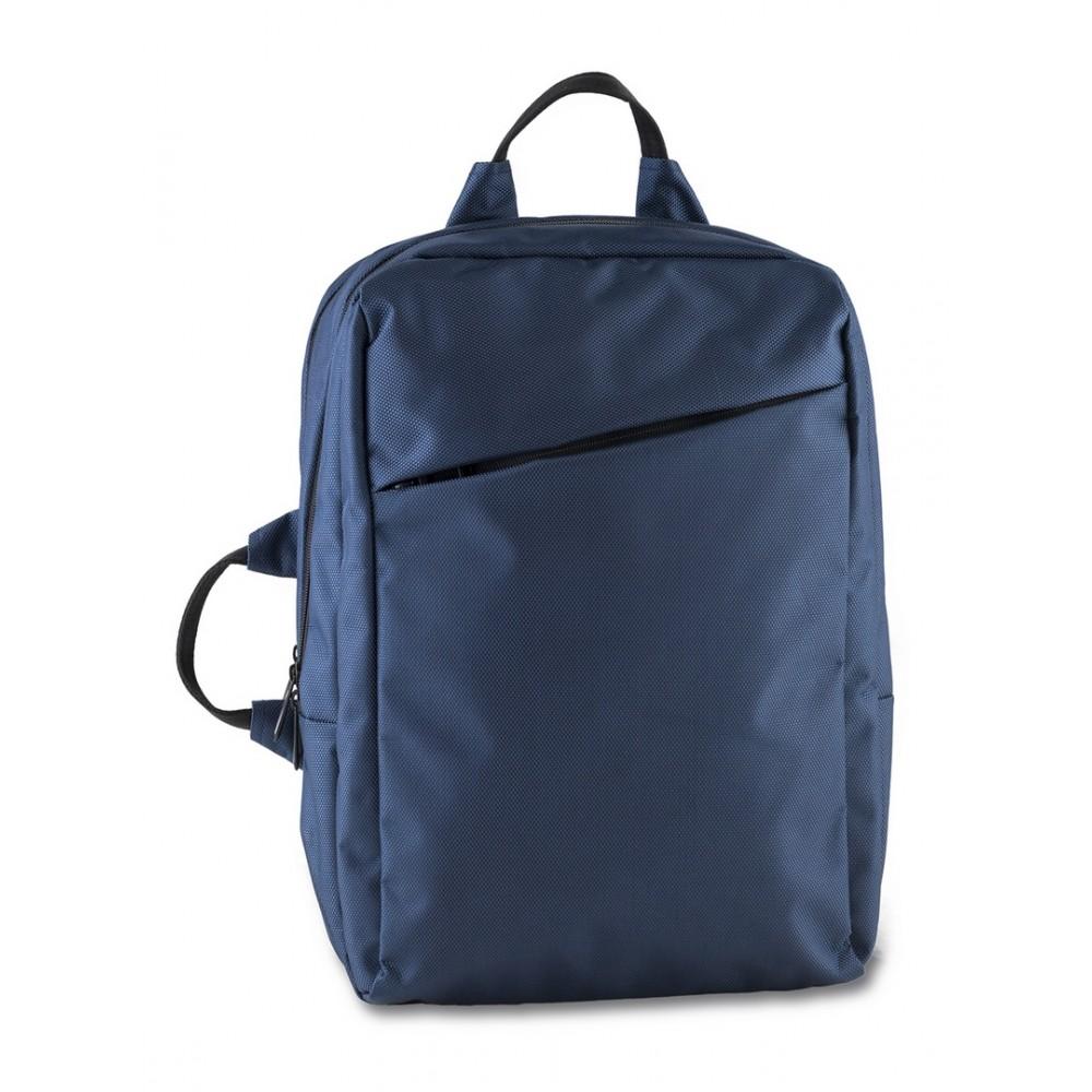 Maleta Backpack Nordic Bolsillos Acolchados En Poliester - Negro/Azul