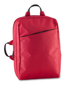 Maleta Backpack Nordic Bolsillos Acolchados En Poliester - Negro/Rojo