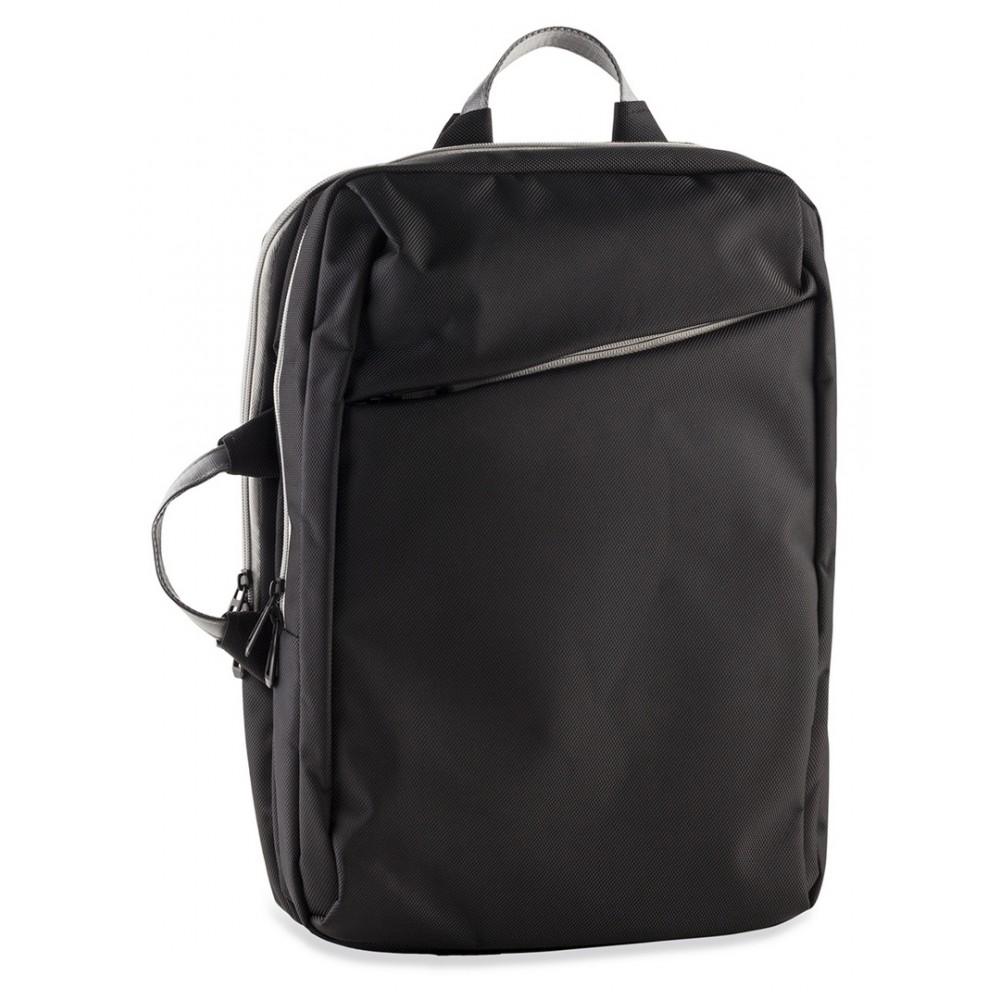 Maleta Backpack Nordic Bolsillos Acolchados En Poliester - Negro/Claro