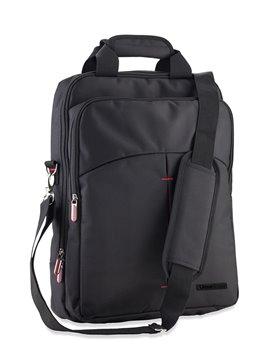 Bolso Maleta Morral Backpack 3 en 1 Urban Travel - Negro/Rojo