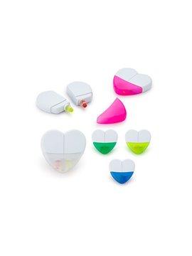 Set de Resaltadores En Parafina Heart Sistema Twist - Azul Marino