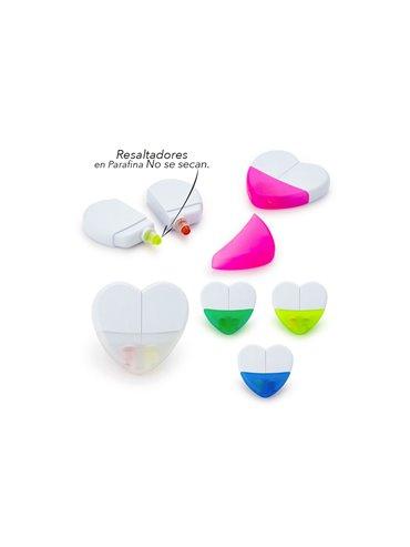 Set de Resaltadores En Parafina Heart Sistema Twist - Fucsia