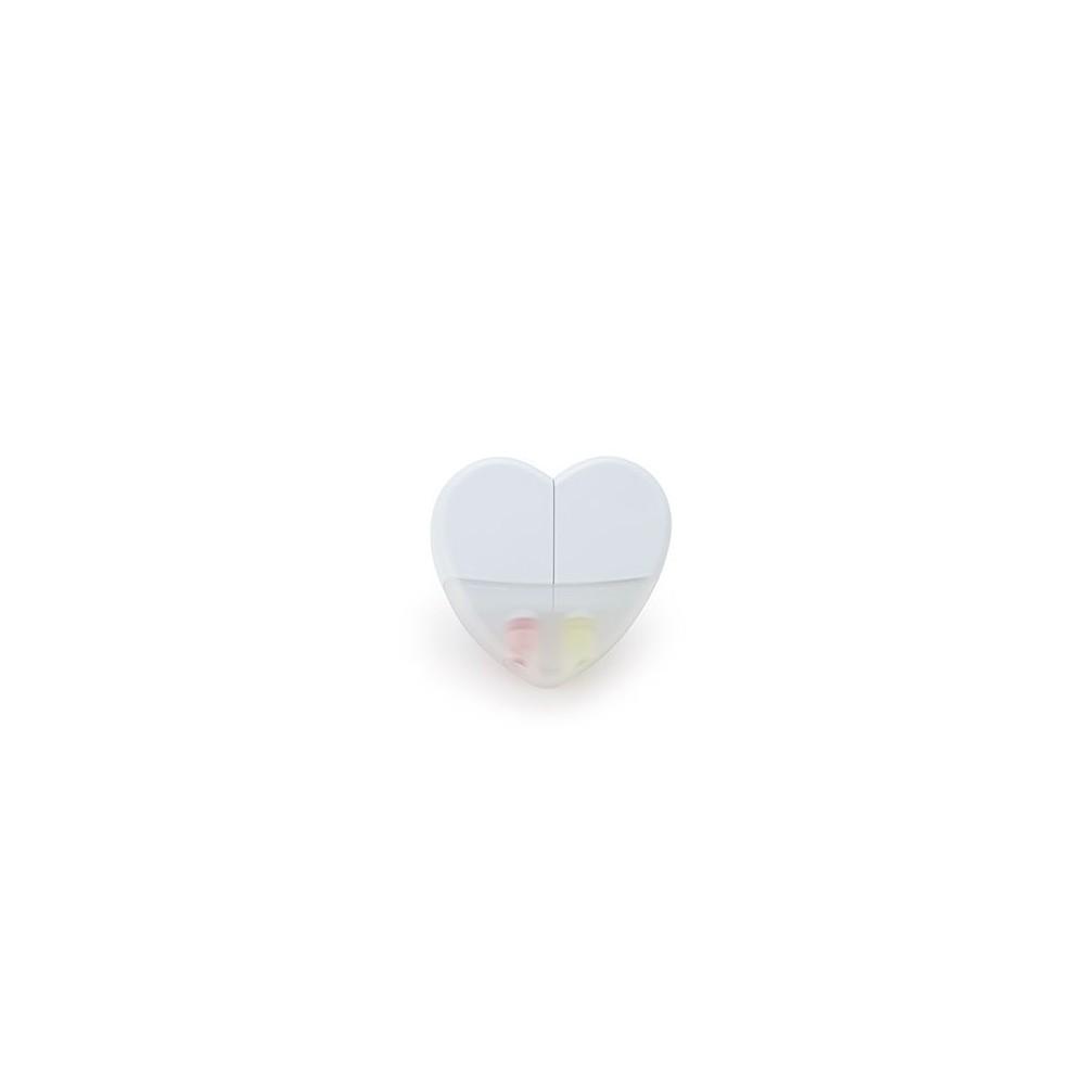 Set de Resaltadores En Parafina Heart Sistema Twist - Blanco