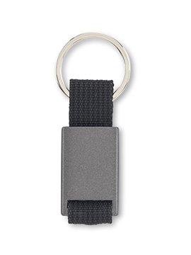 Llavero Metalico con Reata Practico Diseño - Negro