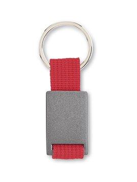 Llavero Metalico con Reata Practico Diseño - Rojo