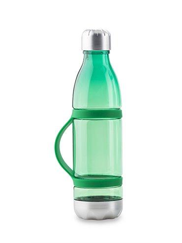 Botella Botilito En Tritan Dominic 600ml en Silicona - Verde