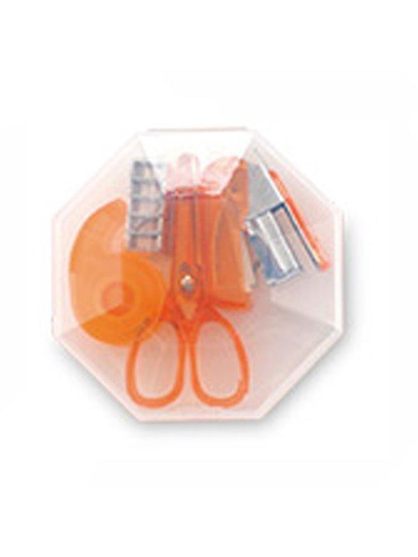 Set De Escritorio Octagon en Plastico 4 Accesorios - Naranja