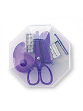 Set De Escritorio Octagon en Plastico 4 Accesorios - Morado