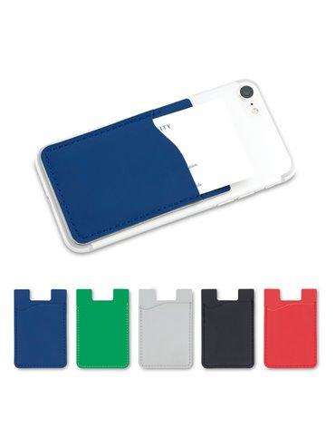 Portadocumentos Portatarjetas Adhesivo En Poliuretano - Rojo