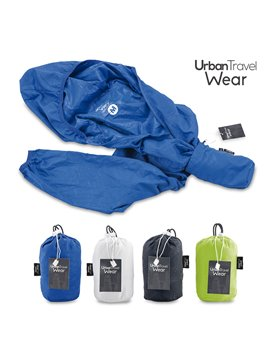 Chaqueta Rompevientos Urban Travel Wear - L Azul