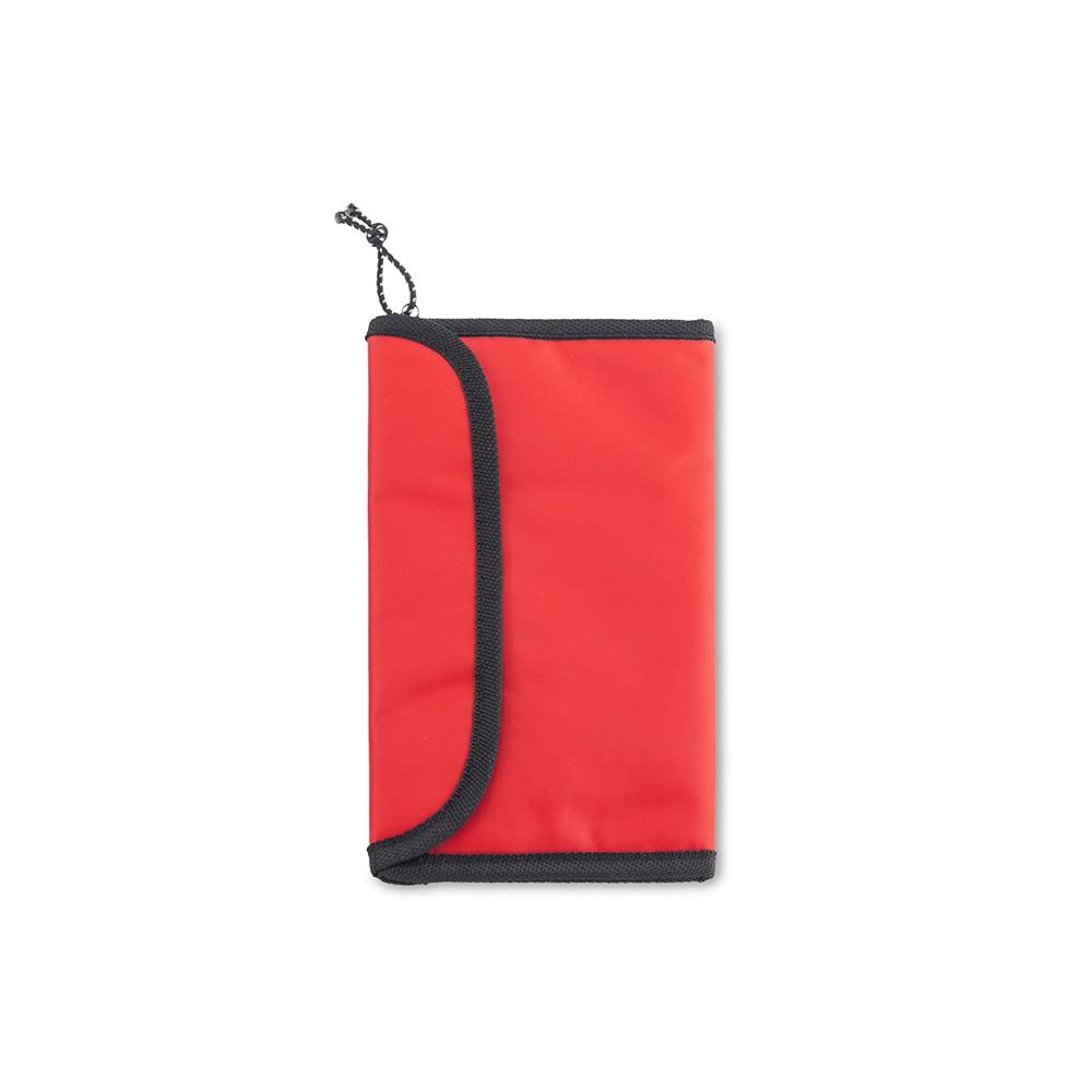 Portatarjetas Portadocumentos Pascal en Nylon - Rojo