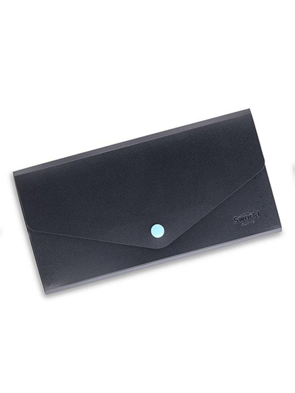 Portatarjetas Portadocumentos Polipropileno 4 Divisiones - Azul