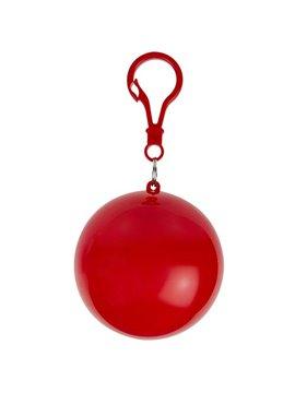 Impermeable Grisel en Plastico Transparente estuche - Rojo