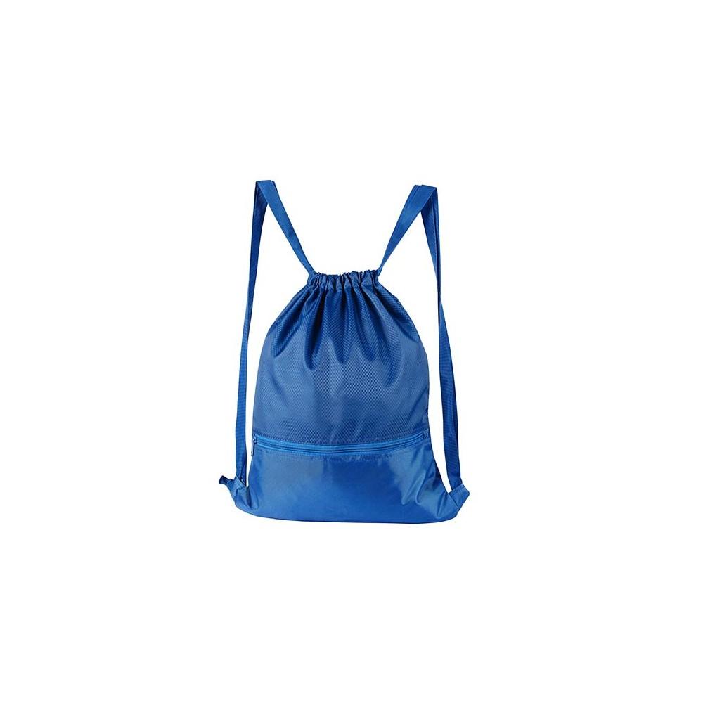 Tula Bolsa Mochila Anshar Poliester Bolsa Cierre Frontal - Azul