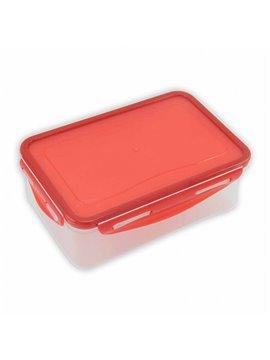 Lonchera Jumbo en Plastico con Tapa Hermetica - Rojo