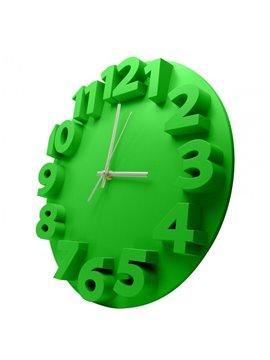 Reloj Alto Relieve Elaborado en Plastico - Verde