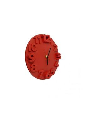 Reloj Alto Relieve Pequeño Elaborado en Plastico - Rojo