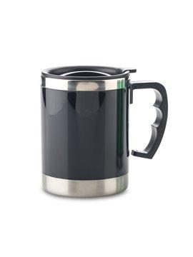 Vaso Mug Metalico Anton 450 ml con tapa - Negro