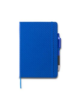 Set Boligrafo y Libreta Gillian 80 hojas rayadas - Azul